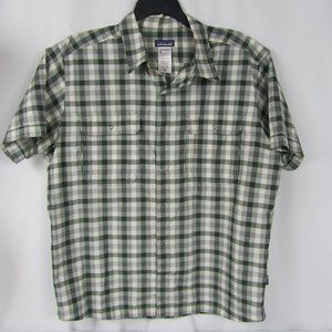 Patagonia Plaid Snap Front Pocket S/S Shirt Men XL